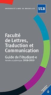 Guide de l'étudiant.e - Année Académique 2018-2019